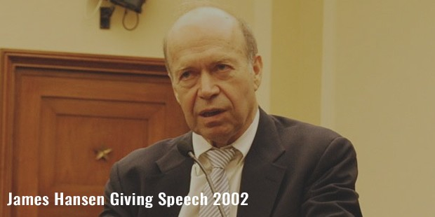 james hansen giving speech 2002