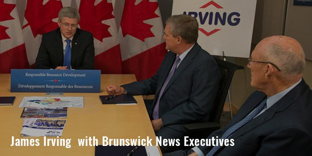 james irving  with brunswick news executives