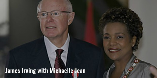 james irving with michaelle jean image