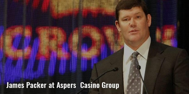james packer at aspers  casino group