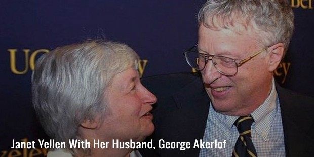 janet yellen with her husband, george akerlof