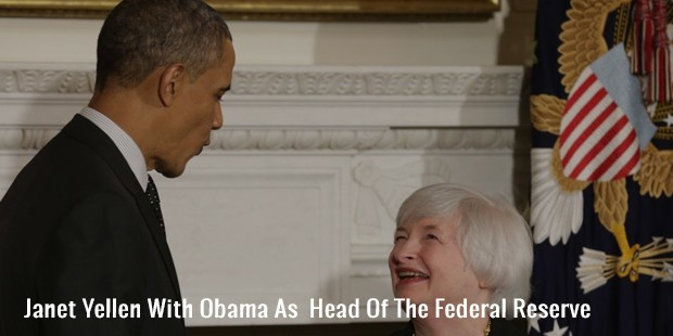 janet yellen with obama as  head of the federal reserve