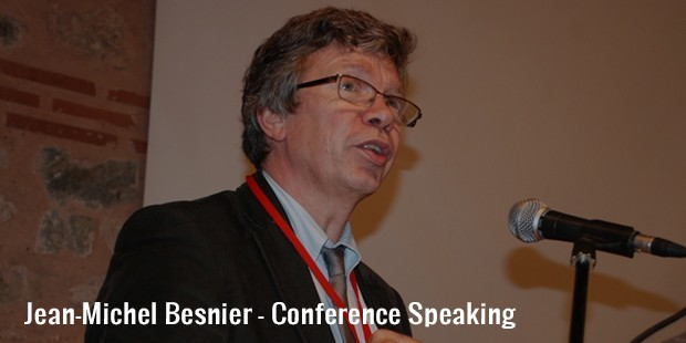 jean michel besnier   conference speaking