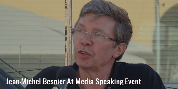 jean michel besnier at media speaking event