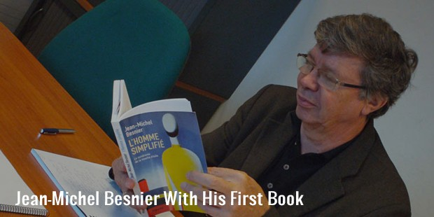 jean michel besnier with his first book
