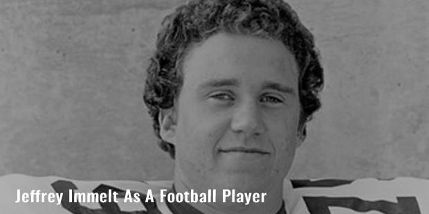 jeffrey immelt as a football player