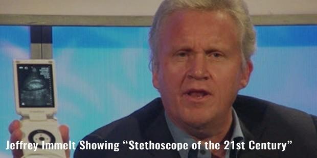 """jeffrey immelt showing """"stethoscope of the 21st century"""""""
