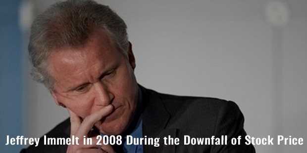 jeffrey immelt in 2008 during the downfall of stock price