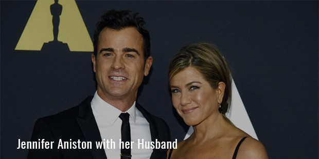 Jennifer Aniston with her Husband