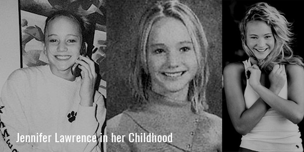 Jennifer Lawrence in her Childhood