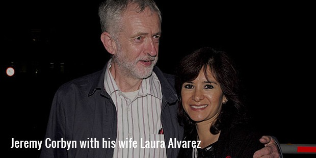 jeremy corbyn with his wife laura alvarez