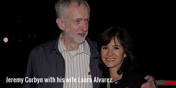 jeremy corbyn with his wife laura alvarez