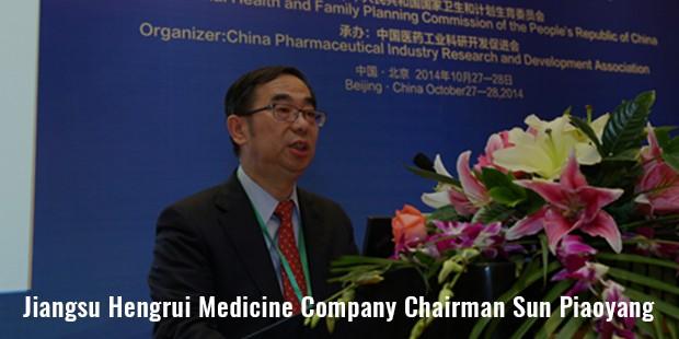 jiangsu hengrui medicine company chairman sun piaoyang