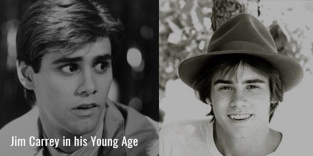 Jim Carrey in his Young Age