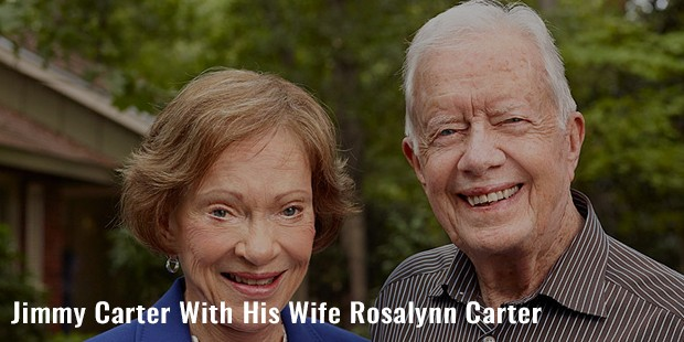 jimmy carter with his wife rosalynn carter