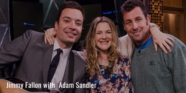 Jimmy Fallon with  Adam Sandler
