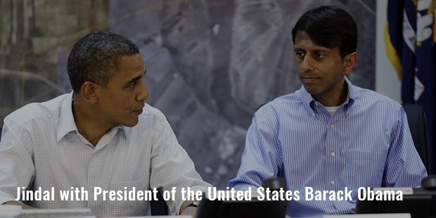 jindal with president of the united states barack obama