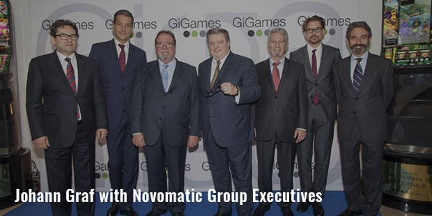 johann graf with novomatic group executives