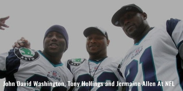 john david washington, tony hollings and jermaine allen at nfl