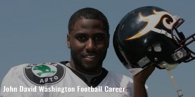 john david washington football career