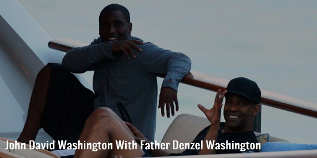 john david washington with father denzel washington
