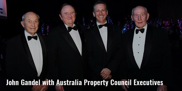 john gandel with australia property council executives