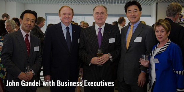 john gandel with business executives