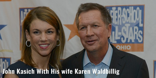 john kasich with his wife karen waldbillig