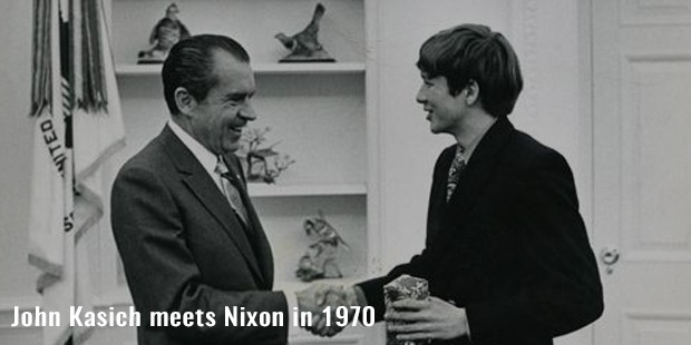 john kasich meets nixon in 1970