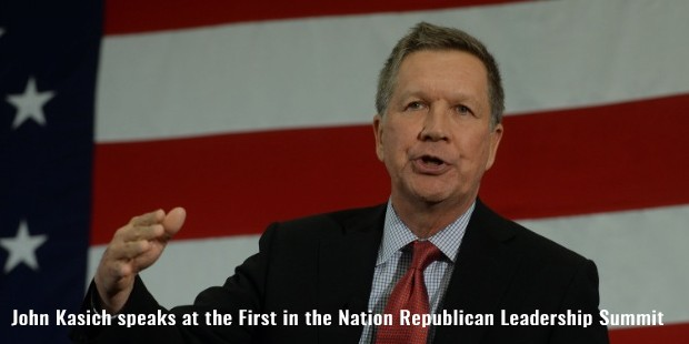 john kasich speaks at the first in the nation republican leadership summit