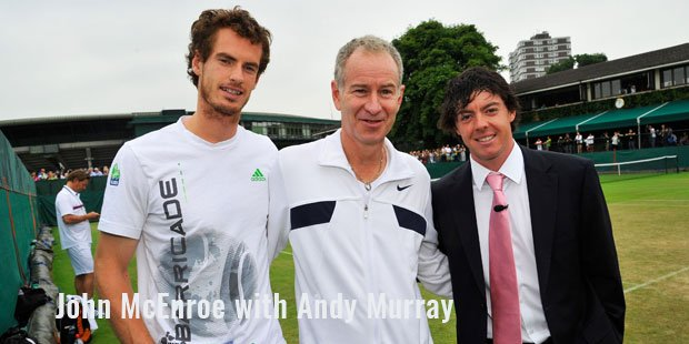 john mcenroe with andy murray