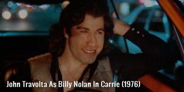 john travolta as billy nolan in carrie  1976