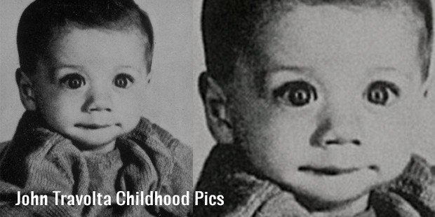 john travolta childhood pics