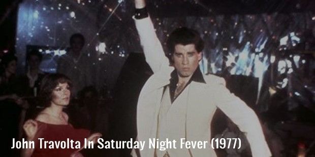 john travolta in saturday night fever  1977