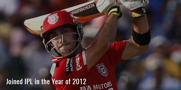 joined ipl in the year of 2012