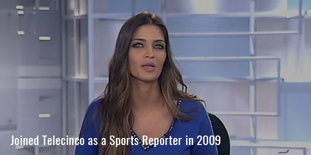 Joined Telecinco as a Sports Reporter in 2009