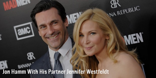 jon hamm with his partner jennifer westfeldt