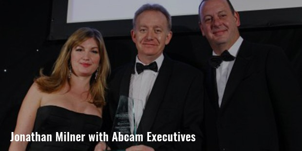 jonathan milner with abcam executives