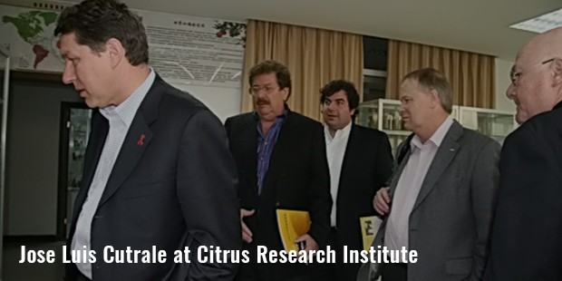 jose luis cutrale at citrus research institute