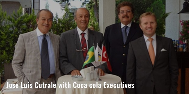 jose luis cutrale with coca cola executives