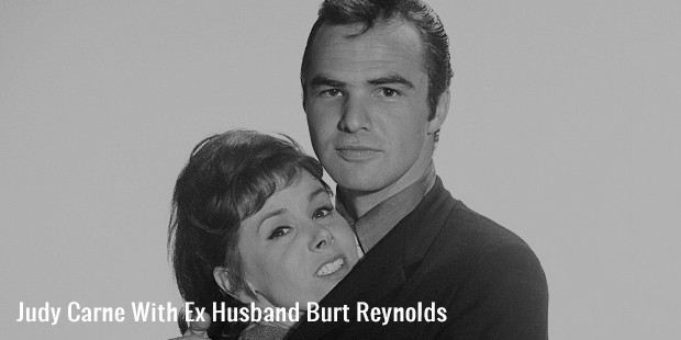 judy carne with ex husband burt reynolds