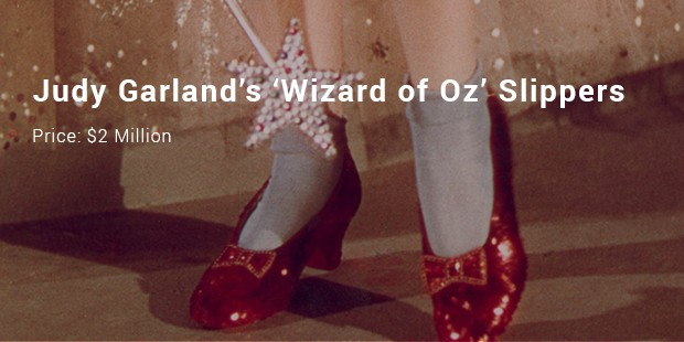 judy garland's 'wizard of oz' slippers