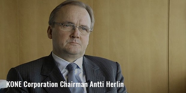 kone corporation chairman antti herlin