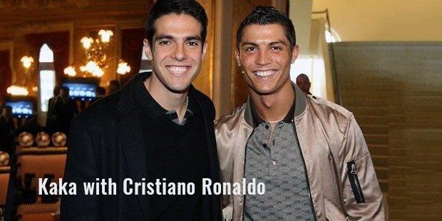 kaka with cristiano ronaldo