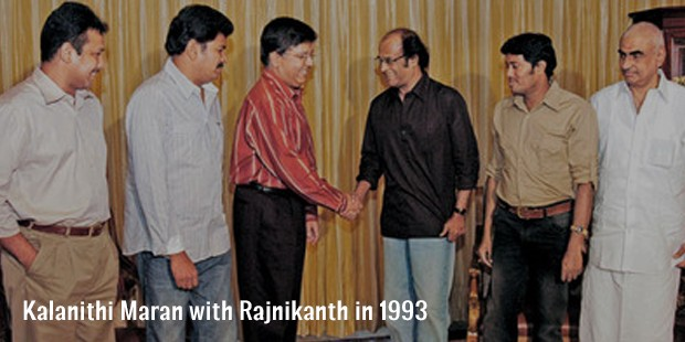kalanithi maran with rajnikanth in 1993