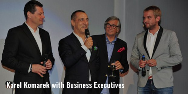 karel komarek with business executives