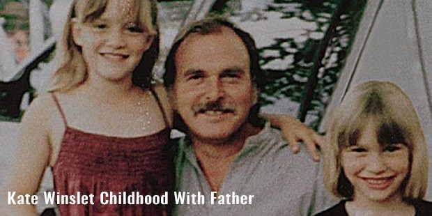 kate winslet childhood with father