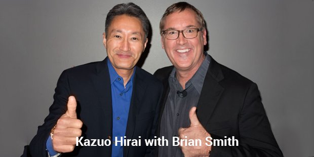 kazuo hirai with brian smith