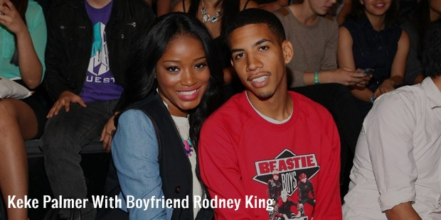 keke palmer with boyfriend rodney king
