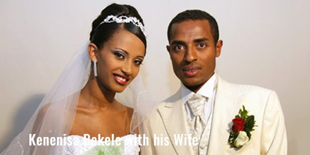kenenisa bekele with his wife